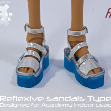 Tamikan Space Gal refltexive sandals