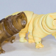 Tamikan Space Pet Tardigrade, ChitinCola and HereComesTheSun colours (the latter is blushed)