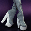 A pair of reflective boots from Virtuality Effects collection