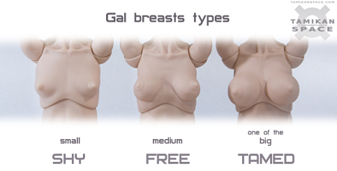 Tamikan Space Gal breast types